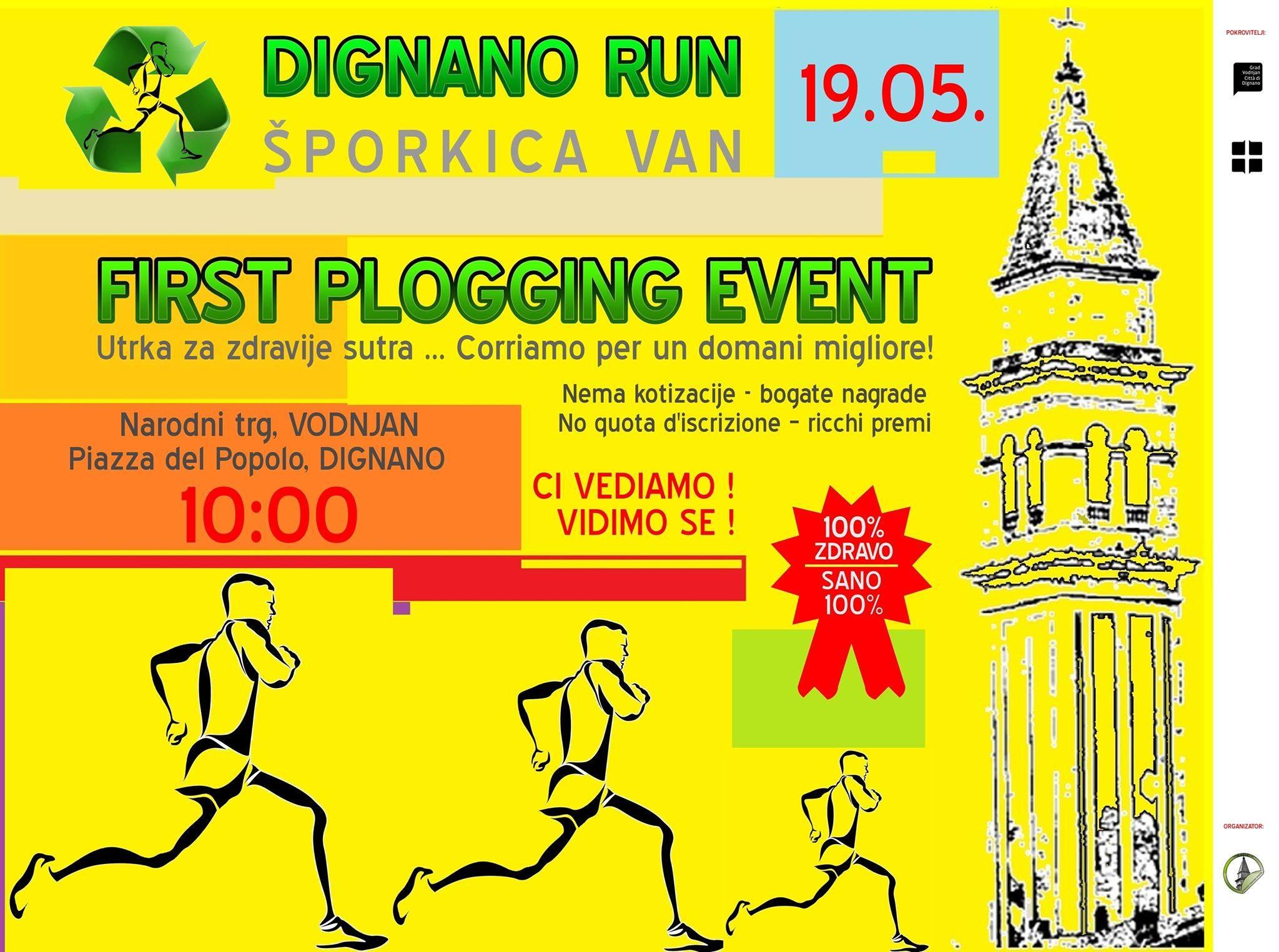 Plakat prve plogging utrke Dignano run