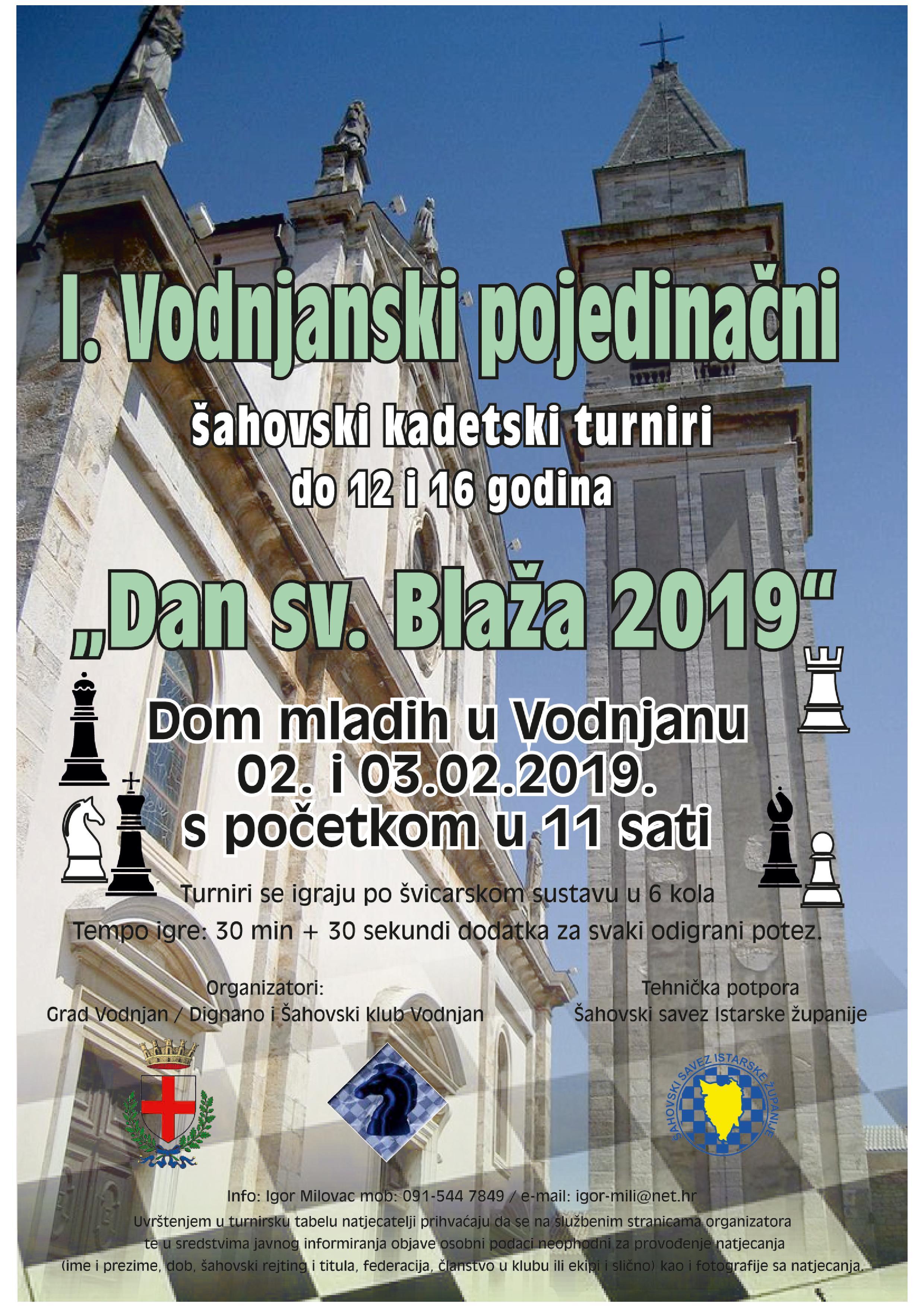 Plakat za šahovski kadetski turnir