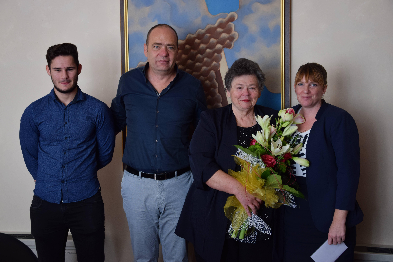 Fotografija prijema gospođe Jelke Vukelić iz Vodnjana