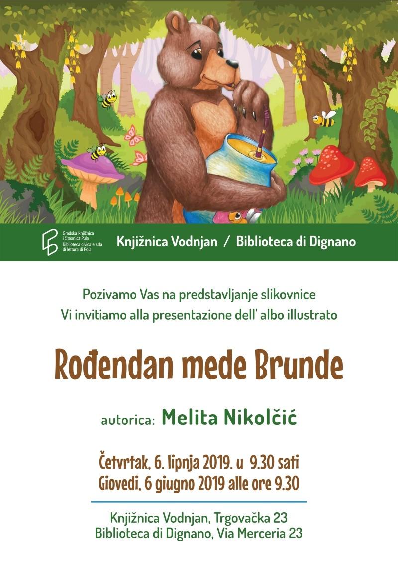 Plakat za predstavljanje slikovnice u knjižnici Vodnjan